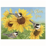 Sunflowers and Chickadees (Thinking of You - Get Well)