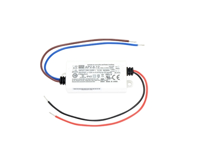12V 8W Electronic driver for indoor use with LED lights.