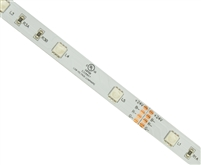 Commercial (Architectural) Grade Color Changing RGB LED Strip. Low Density (30/M), Low Output (1.5 Watts/foot), 16ft Roll, 5050 RGB Chip. Use in cove lighting, cabinet lighting, holiday lighting, hospitality lighting.