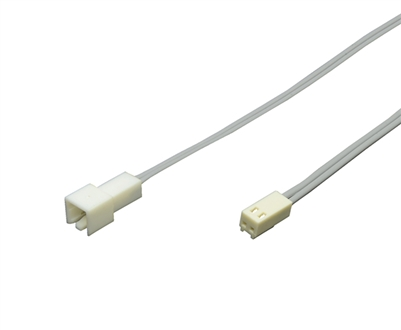 8ft Extension wire for 24V LED Strip Lighting. Male and Female LED Connector with 8ft of 20-2 low voltage 24V LED wire.