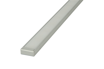 "Aluminum profile, channel, extrusion ""A"", for LED strips. 4 feet long, 0.7"" inches wide, and 0.22"" inches high. Use with LED strips for under cabinet lighting, under counter lighting, showcase lighting, and cove lighting. Stocked and Shipped from Miami"