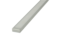 "Aluminum profile, channel, extrusion ""A"", for LED strips. 8 feet long, 0.7"" inches wide, and 0.22"" inches high. Use with LED strips for under cabinet lighting, under counter lighting, showcase lighting, and cove lighting. Stocked and Shipped from Miami"