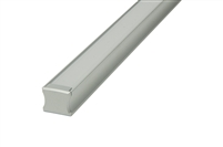 "Aluminum profile, channel, extrusion ""B"", for LED strips. 8 feet long, 0.7"" inches wide, and 0.6"" inches high. Use with LED strips for under cabinet lighting, under counter lighting, showcase lighting, and cove lighting. Stocked and Shipped from Miami"