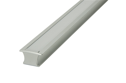 "Slim recessed mounted Aluminum Channel 8ft, 0.6"" Wide with flange (0.83""), ideally used for under cabinet lighting, showcase lighting, closets, toe-kick lighting, and stair tread lighting. Stocked and shipped from Miami, FL."