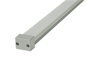 "Surface mounted Aluminum Channel E 8ft, 0.6"" Wide 0.4""H, ideally used for under cabinet lighting, showcase lighting, closets, toe-kick lighting, and stair tread lighting. Stocked and shipped from Miami, FL."