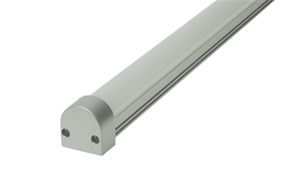 "Surface mounted Aluminum Channel F 8ft, 0.69"" Wide 0.5""H, ideally used for under cabinet lighting, showcase lighting, closets, toe-kick lighting, and stair tread lighting. Stocked and shipped from Miami, FL. Use with 10mm LED Strips"