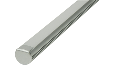 "Surface mounted Aluminum Channel G 8ft, 0.73"" Wide 0.48""H, ideally used for under cabinet lighting, showcase lighting, closets, toe-kick lighting, and stair tread lighting. Stocked and shipped from Miami, FL. Use with 10mm LED Strips"