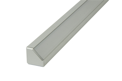 "Surface mounted Aluminum Channel H 4ft, 0.73"" Wide 0.73""H, ideally used for under cabinet lighting, showcase lighting, closets, toe-kick lighting, and stair tread lighting. Stocked and shipped from Miami, FL. Use with 10mm LED Strips"