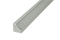 "Surface mounted Aluminum Channel H 8ft, 0.73"" Wide 0.73""H, ideally used for under cabinet lighting, showcase lighting, closets, toe-kick lighting, and stair tread lighting. Stocked and shipped from Miami, FL. Use with 10mm LED Strips"