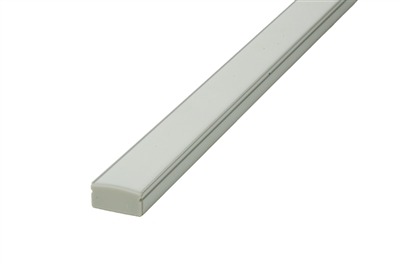 Slim, low profile 1/3 inch LED aluminum profile J for under cabinet, in cabinet, closet, and hospitality linear LED strip lighting. Use LED strips, LED tape light inside LED Aluminum channel, housing type J.