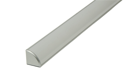 "Surface mounted Aluminum Channel K 8ft, 0.64"" Wide 0.64""H, ideally used for under cabinet lighting, showcase lighting, closets, toe-kick lighting, and stair tread lighting. Stocked and shipped from Miami, FL. Use with 10mm LED Strips"