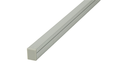 LED Aluminum Channel Extrusion for ultra thin linear LED strip lighting. Use in linear LED cabinet lighting, LED closet lighting, LED showcase and shelf lighting. half inch thick. Use in ultra thin commercial LED strips and tape lights.