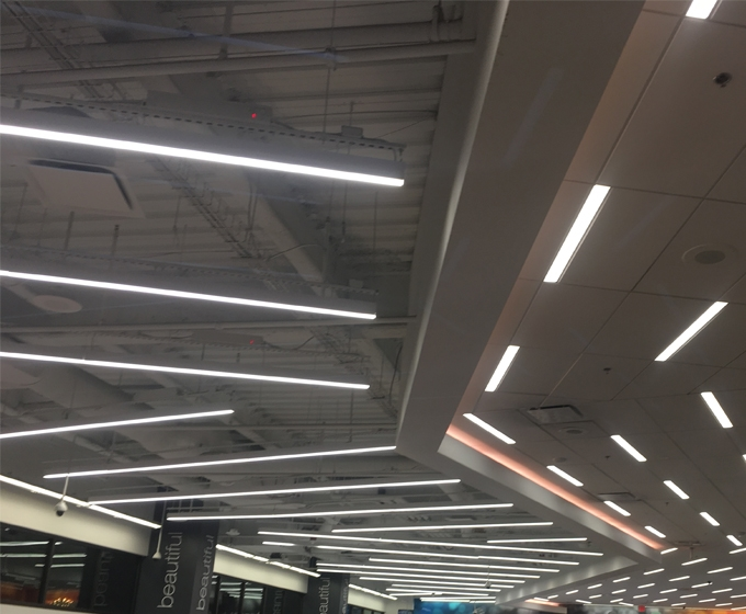 linear suspended lighting. Project Support Linear Suspended Lighting L