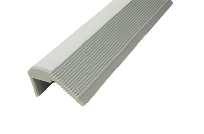 LED Aluminum Profile S5 for linear LED stair illumination strip lighting. LED Aluminum Channel S5 comes with a non-slip surface for safety and maximum lighting. Use in schools, hospitals, retirement homes and more.