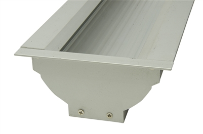 LED Aluminum Extrusion S8 for indirect linear LED strip lighting. Use two rows of commercial bright LED strips and tape lights to create even light glow without use of a lens.