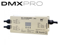 Waterproof DMX receiver Decoder for use in backyard and front yard LED lighting. Program complex architectural lighting scenes for your outdoor spaces. Control up to 5A/Channel with this DMX Receiver.