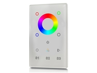 Glass Touch Panel for adjusting Color-Tone (RGB), operates using RF. To be used for home automation and lighting applications.
