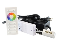 Connect up to (4) Color Changing RGB LED Bars or RGB LED Strips into 1 simple plug and play controller. Create hundreds of different colors, dim, or play RGB LEDs in dynamic mode with our kit.
