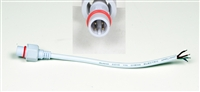 WATERPROOF CONNECTOR CABLE 4PIN MALE WHITE
