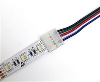 Use cut pieces of RGBW LED strips without having to solder leads onto contact points. RGBW quick connectors are great for color changing and white hospitality LED lighting, restaurant LED lighting, and cove LED lighting.