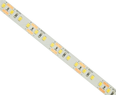 Commercial (Architectural) Grade LED Strip. 2835 LED chips, High Density 120 LEDs/M, Indoor Grade (IP23) in a 16 foot roll. Use inside of Aluminum housings to build a professional linear LED fixture. Top-Quality LED Strips for maximum lifetime.