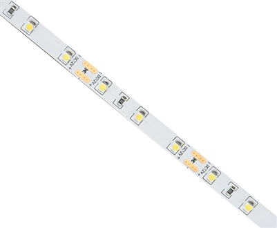 Commercial (Architectural) Grade LED Strip. 3528 LED chips, Medium Density 60 LEDs/M, Indoor Grade (IP23) in a 16 foot roll. Use inside of Aluminum housings to build a professional linear LED fixture. Top-Quality LED Strips for maximum lifetime.