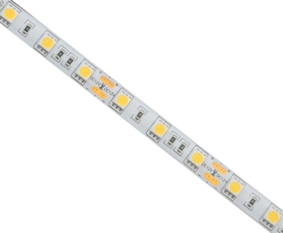 Commercial (Architectural) Grade LED Strip. 3528 LED chips, Med Density 60 LEDs/M, Outdoor Grade (IP65) in a 16 foot roll. Use inside of Aluminum housings to build a professional linear LED fixture. Top-Quality LED Strips for maximum lifetime.