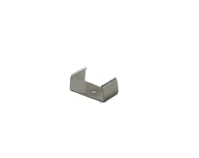 Extra pair of surface mounting clips for Aluminum Profile, extrusion, housing for LED Strips type J2. Includes (2) Stainless-steel, corrosion proof mounting clips. Easily snap housing, extrusion, profile for LED strips into place.