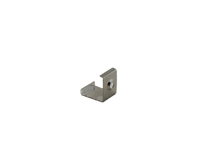 Extra pair of surface mounting clips for Aluminum Profile, extrusion, housing for LED Strips type K. Includes (2) Stainless-steel, corrosion proof mounting clips. Easily snap housing, extrusion, profile for LED strips into place.
