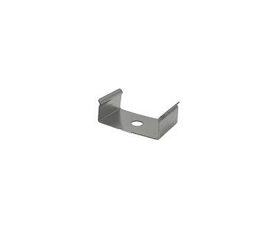 Extra pair of surface mounting clips for Aluminum Profile, extrusion, housing for LED Strips type O. Includes (2) Stainless-steel, corrosion proof mounting clips. Easily snap housing, extrusion, profile for LED strips into place.