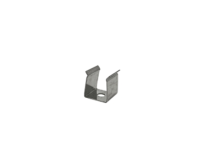 Extra pair of surface mounting clips for Aluminum Profile, extrusion, housing for LED Strips type O2. Includes (2) Stainless-steel, corrosion proof mounting clips. Easily snap housing, extrusion, profile for LED strips into place.