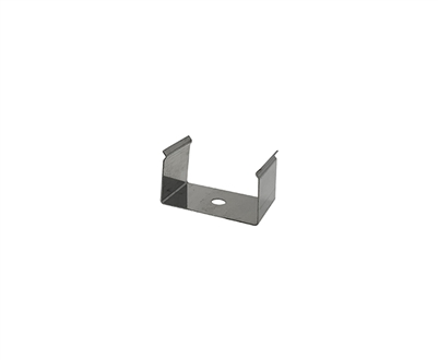 Extra pair of surface mounting clips for Aluminum Profile, extrusion, housing for LED Strips type O4. Includes (2) Stainless-steel, corrosion proof mounting clips. Easily snap housing, extrusion, profile for LED strips into place.