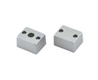 Extra pair of end caps for aluminum profile, housing, extrusion for LED Strips type E. Includes one power-feed end-cap and one closed end-cap. Finished to match aluminum extrusion, housing finish finish.
