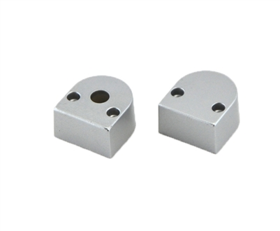 Extra pair of end caps for aluminum profile, housing, extrusion for LED Strips type F. Includes one power-feed end-cap and one closed end-cap. Finished to match aluminum extrusion, housing finish finish.