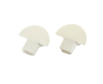 Extra pair of end caps for aluminum profile, housing, extrusion for LED Strips type I. Includes one power-feed end-cap and one closed end-cap. Finished to match aluminum extrusion, housing finish finish.