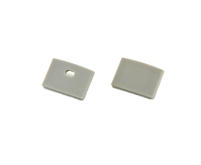 Extra pair of end caps for aluminum profile, housing, extrusion for LED Strips type O. Includes one power-feed end-cap and one closed end-cap. Finished to match aluminum extrusion, housing finish finish.