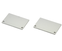 Extra pair of end caps for aluminum profile, housing, extrusion for LED Strips type P6. Includes one power-feed end-cap and one closed end-cap. Finished to match aluminum extrusion, housing finish finish.