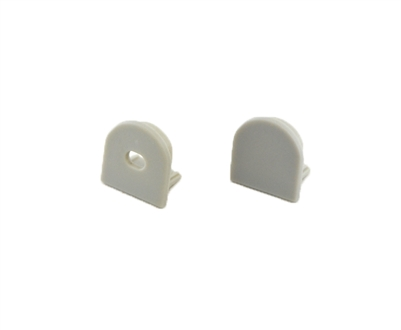 Extra pair of end caps for aluminum profile, housing, extrusion for LED Strips type S1. Includes one power-feed end-cap and one closed end-cap. Finished to match aluminum extrusion, housing finish finish.