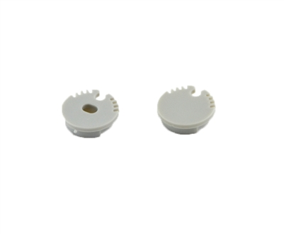 Extra pair of end caps for aluminum profile, housing, extrusion for LED Strips type S7. Includes one power-feed end-cap and one closed end-cap. Finished to match aluminum extrusion, housing finish finish.