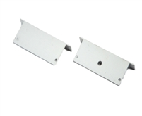 Extra pair of end caps for aluminum profile, housing, extrusion for LED Strips type Y3. Includes one power-feed end-cap and one closed end-cap. Finished to match aluminum extrusion, housing finish finish.