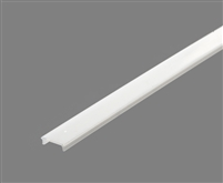 Extra lens for aluminum extrusion, housing, profile J2 for bright LED Strip and LED Strip lighting. Available in clear or white finishing.