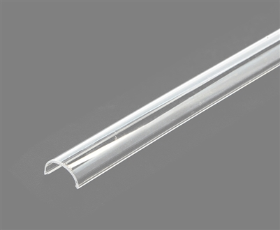 Extra lens for aluminum extrusion, housing, profile K for bright LED Strip and LED Strip lighting. Available in clear or frosted finishing.