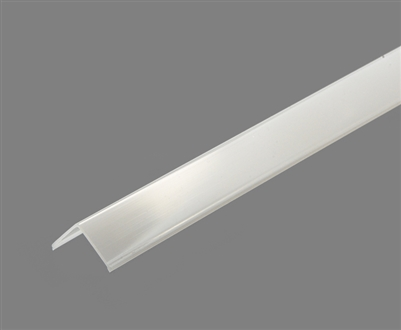 Extra lens for aluminum extrusion, housing, profile L for bright LED Strip and LED Strip lighting. Available in clear or frosted finishing.