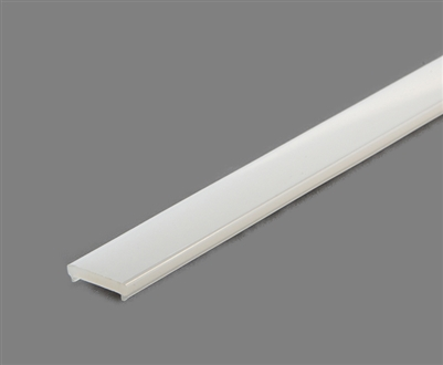 Extra lens for aluminum extrusion, housing, profile N for bright LED Strip and LED Strip lighting. Available in frosted finishing.