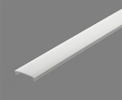 Extra lens for aluminum extrusion, housing, profile O4 for bright LED Strip and LED Strip lighting. Available in clear or white finishing.