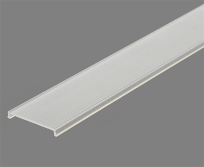 Extra lens for aluminum extrusion, housing, profile V for bright LED Strip and LED Strip lighting. Available in semi-clear or white finishing.