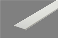 Extra lens for aluminum extrusion, housing, profile V2 for bright LED Strip and LED Strip lighting. Available in semi-clear or white finishing.