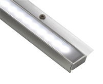 "Linear LED lighting for under cabinet, in cabinet, and over cabinet installations. 15"" cabinet LED bar for cabinets 15"" to 18"". Connect up 6 LED cabinet bars to one powersupply. Dimmable cabinet LED lighting bar"