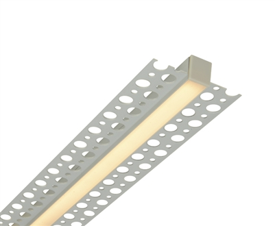 GlowbackLED 1/2 inch ultra slim plaster in low voltage recessed linear UL-listed LED bar. Made to your custom size from 48 to 72 inches (up to 4 feet).