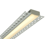 "Custom made 2 foot 1 inch wide trim-less recessed linear LED light bars for decorative and ambient lighting applications. Allows one to ""mud up"" to aperture of linear light."